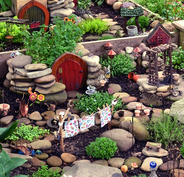garden decoration ideas houses stone paths