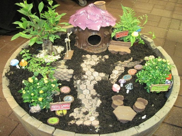 DIY miniature fairy design plants miniature house