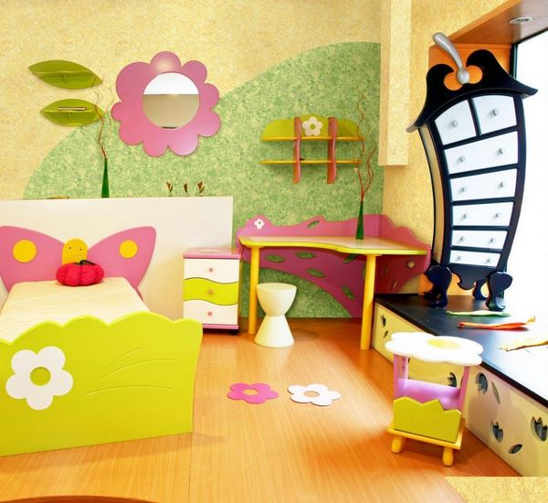 girl bedroom decorating ideas fresh colors wall pattern