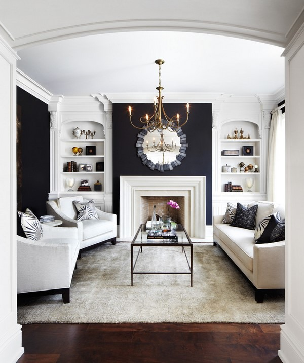 traditional living room formal decor ideas black accent walls