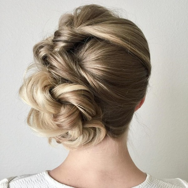 Prom updo with twists thin hair ideas