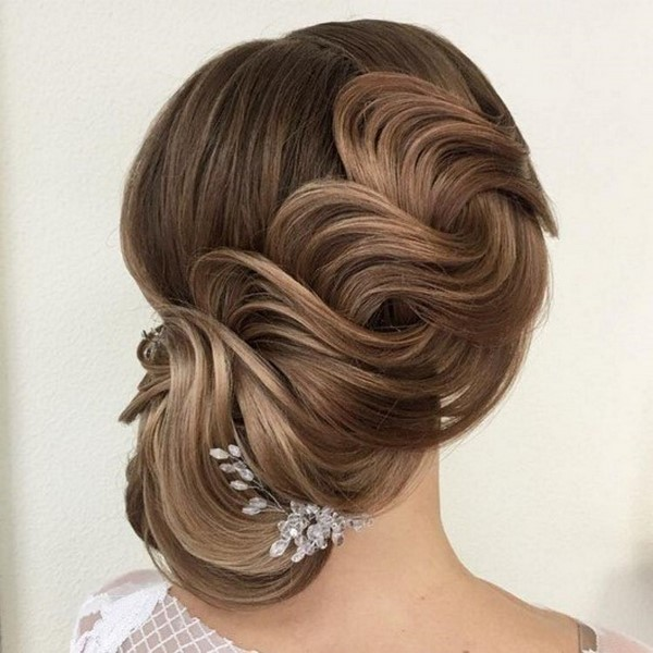 evening hairstyles updos for prom bun with awesome waves