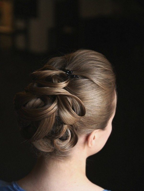 beautiful updo bun with twists evening hairstyles for prom