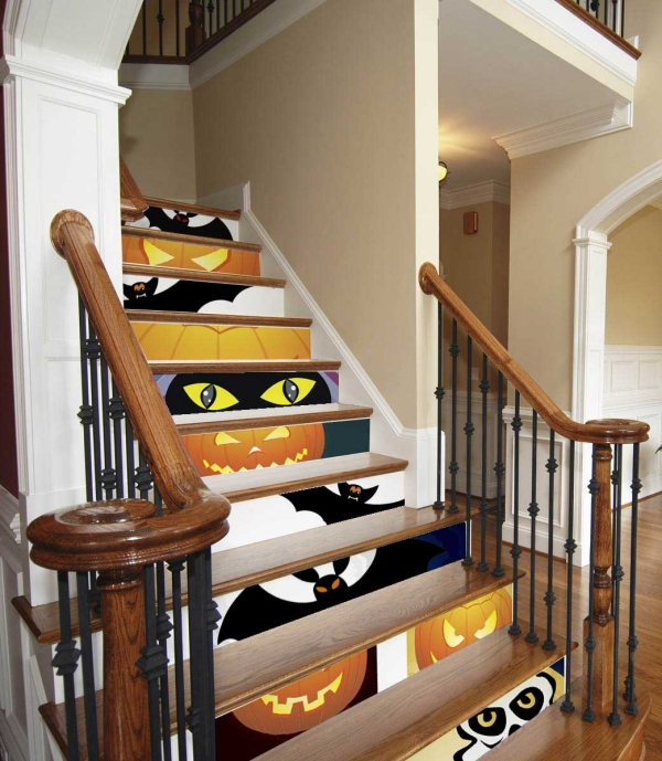 halloween-decorating-ideas-stairs-fronts halloween stickers