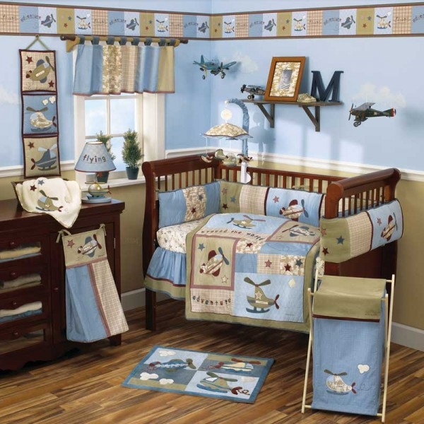 baby bedding sets and ideas airplane theme