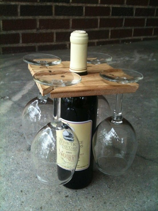 housewarming-gift- ideas-original wine bottle and glasses holder