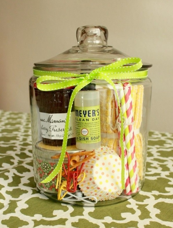 housewarming-gift-ideas-cupcake ingredients in glass jar