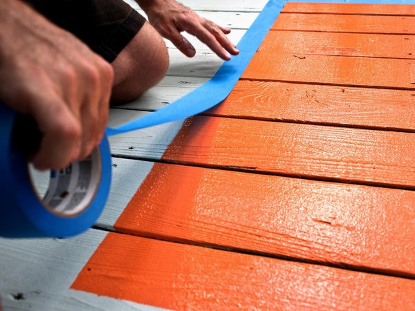 deck paint ideas with painted area rug patio porch decor