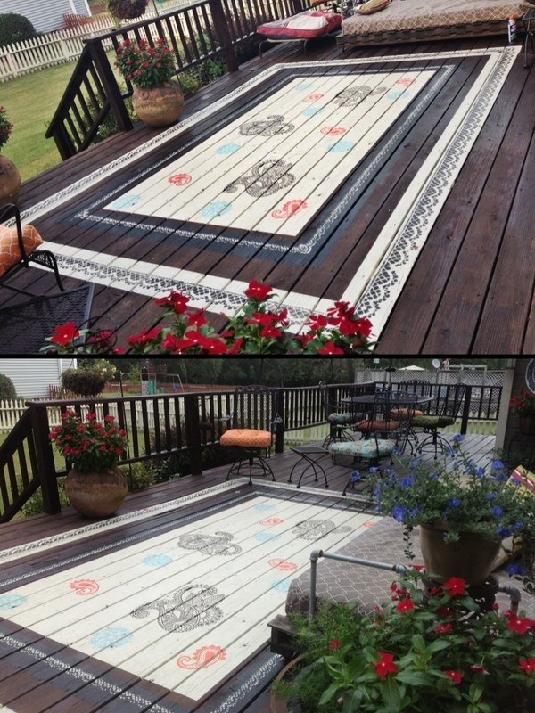 deck how to faux rug patio house exterior