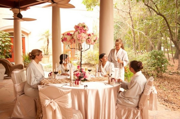 spa bridal party decorating ideas