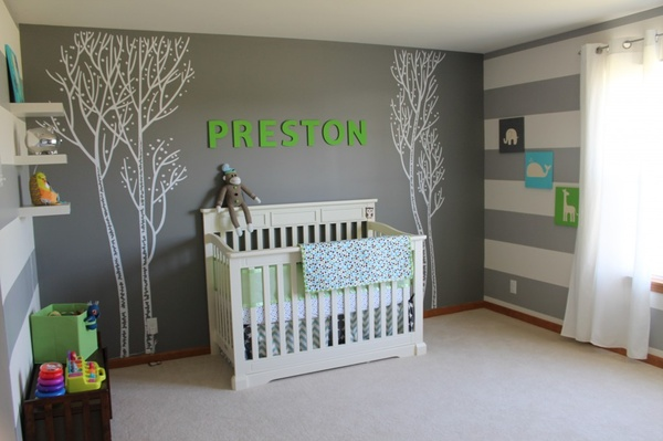 nursery decorating ideas name wall stickers