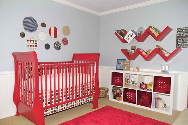 decorating ideas red furniture