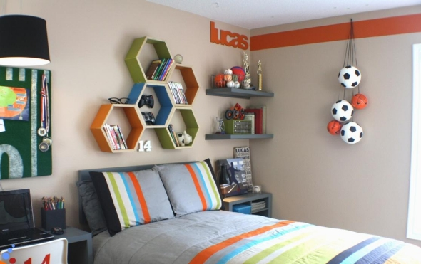 kids room themed furniture football