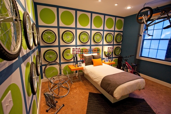 Bike fans teen bedroom furniture