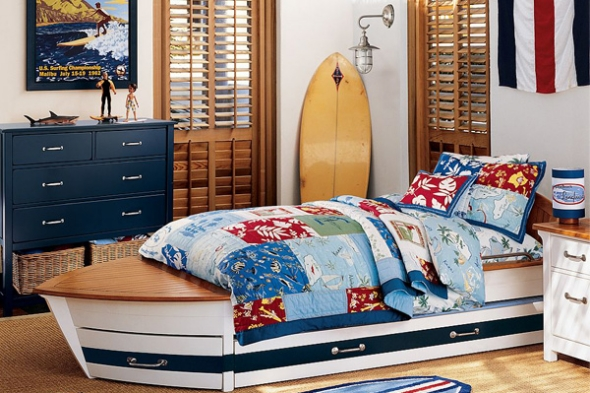 Boat bed boys design ideas