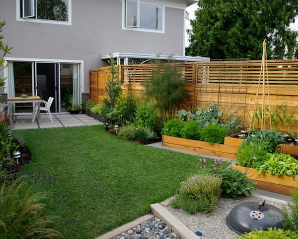 outdoor gardening ideas small vegetable garden design raised beds lawn
