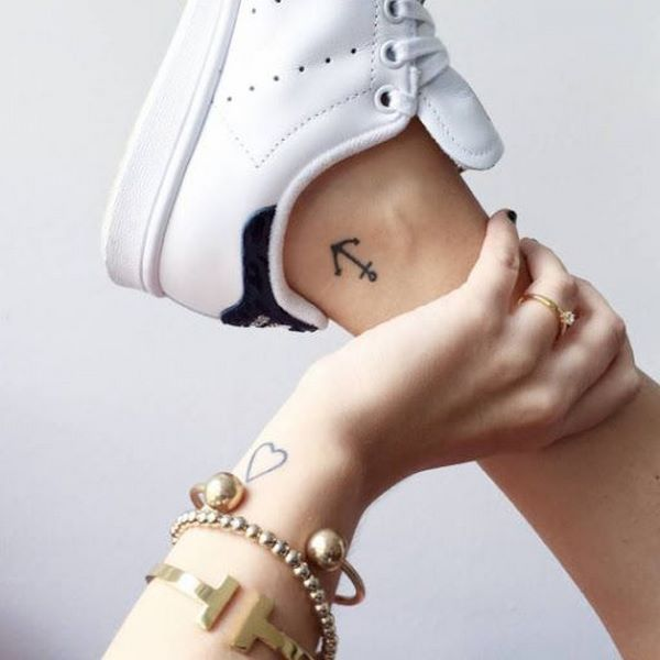 anchor ankle tattoo small tattoos ideas