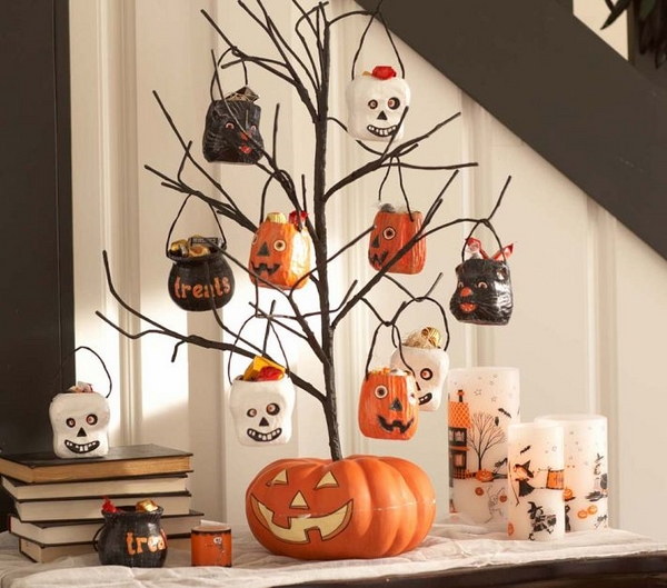 Halloween tree decorations trick or treat pumpkin tree decoration