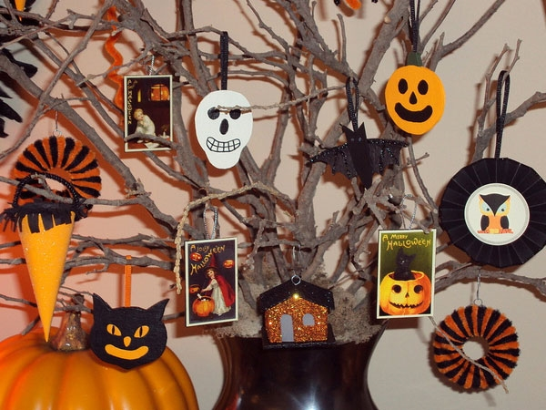 Halloween tree decorations paper crafts for kids halloween ornaments ghosts pumpkin s