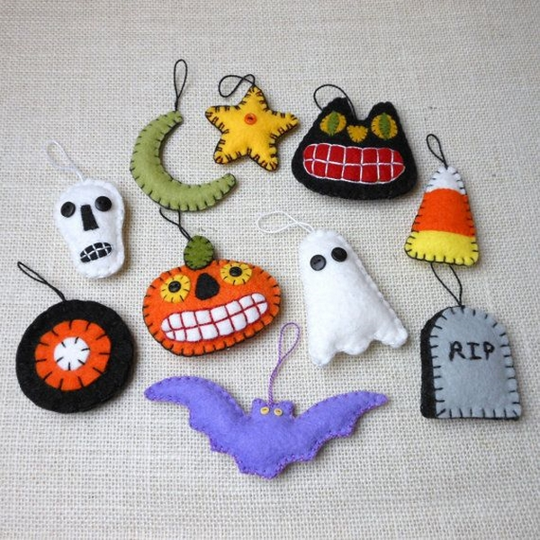 Halloween tree decorations halloween felt ornaments ghosts pumpkins