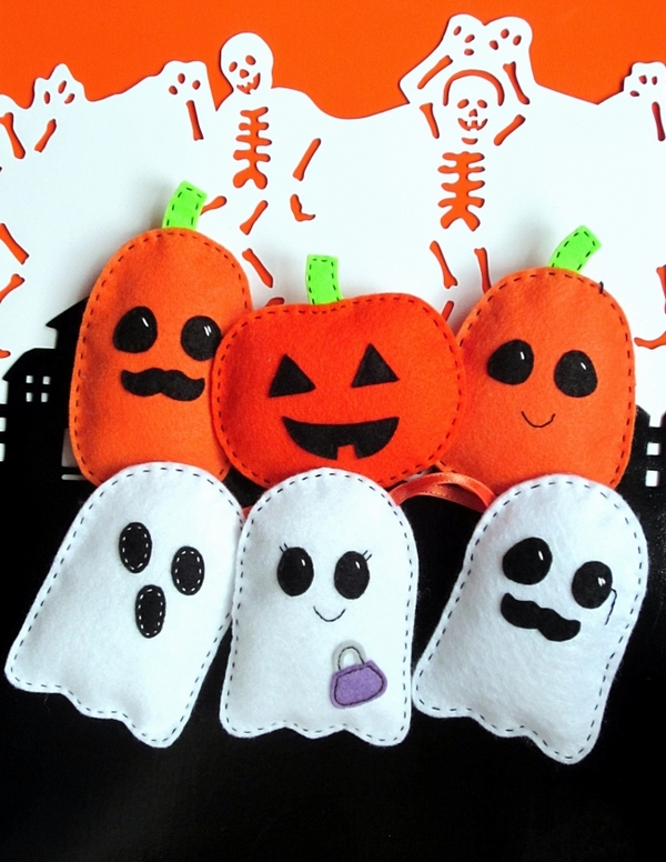 halloween felt ornaments