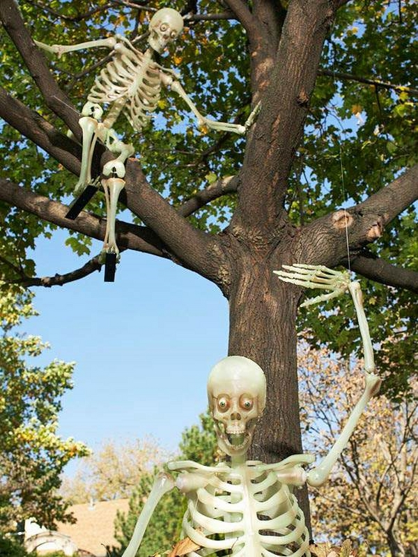 tree decorations garden decoration ideas skeletons