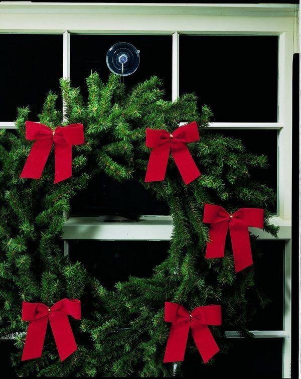 how to hang wreath on windows clear suction cup with hooks