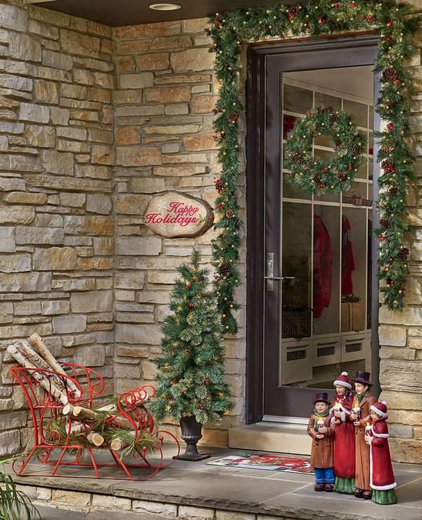How to hang a wreath on a glass door christmas decorating ideas