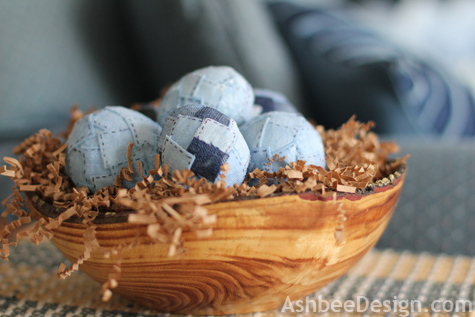 Kreative Osterdekoration Ideen – Country Style Denim verpackte Eier