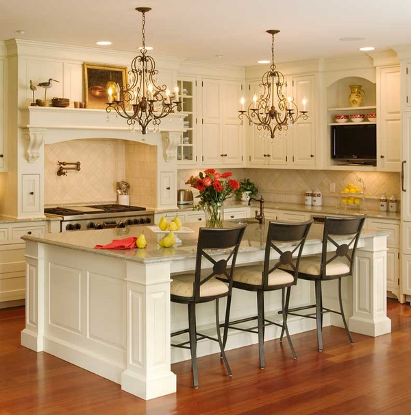 kitchen islands with seating ideas white cabinets hardwood flooring