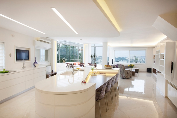 island with seating ideas integrated lighting