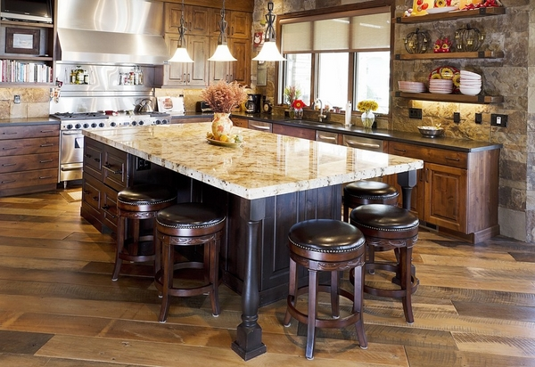 leather stools rustic flair