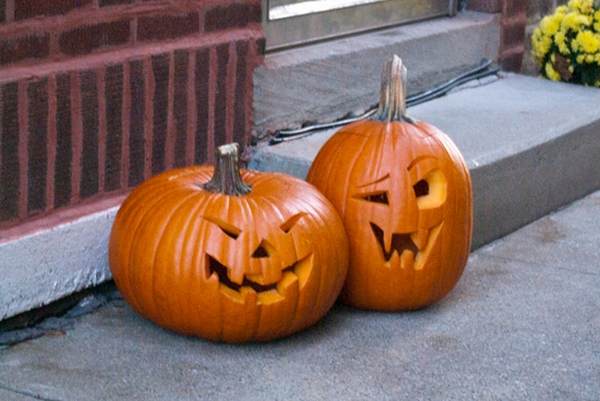 funny face jack o lantern pumpkin carving designs