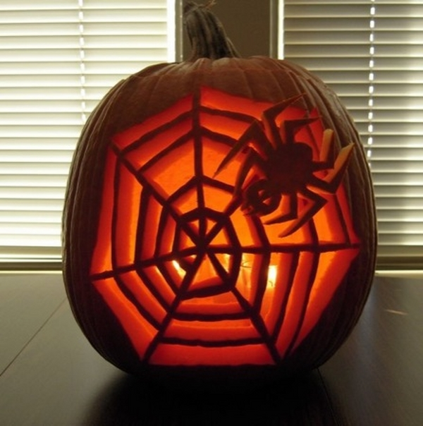 easy pumpkin carving design ideas DIY Halloween decoration