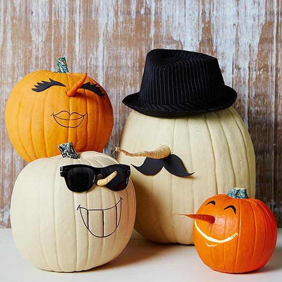 Cool easy pumpkin design Halloween crafts for kids