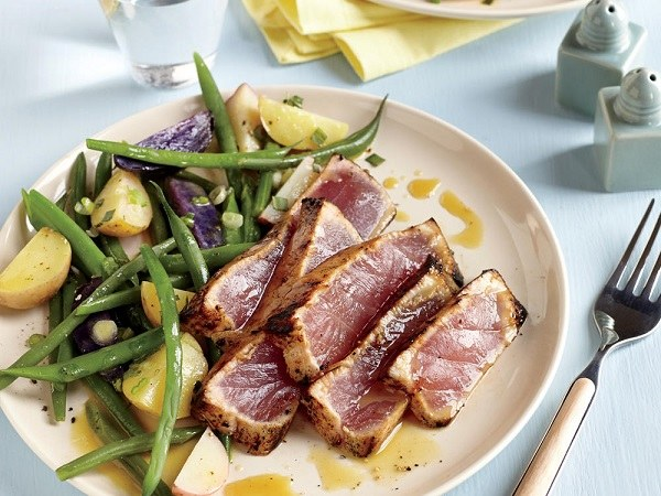 delicious fish recipes seared tuna steaks with beans
