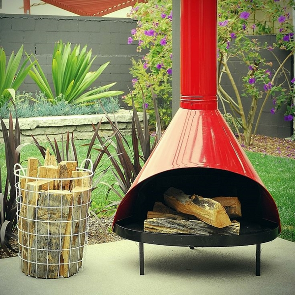 red malm outdoor fireplace space saving ideas small patio
