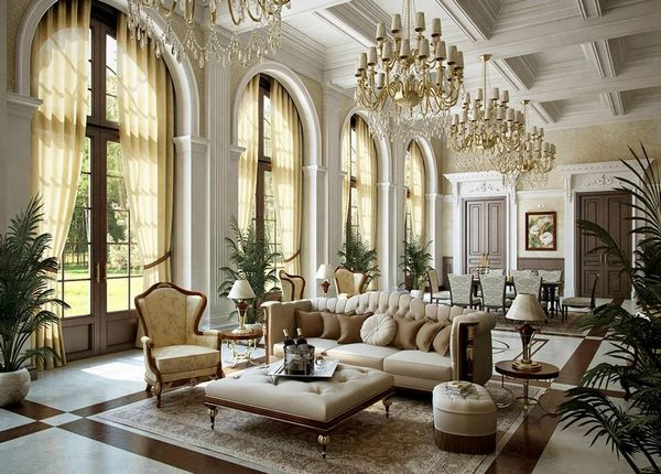 mansion home interior design styles and furniture ideas