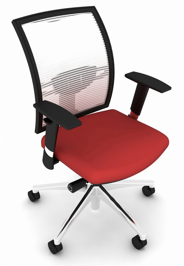 stylish chair red black white colors