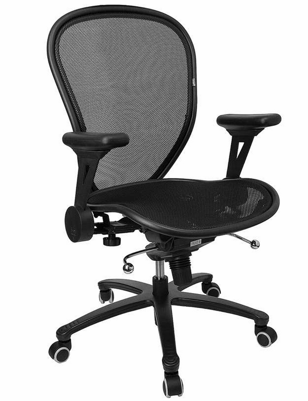 mesh desk chair curved back adjustable height