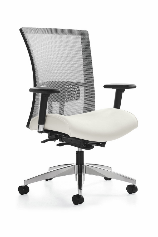 contemporary furniture white chair mesh backrest