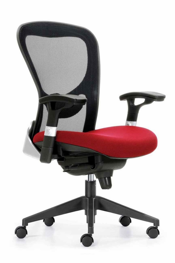 contemporary chair high back red seat