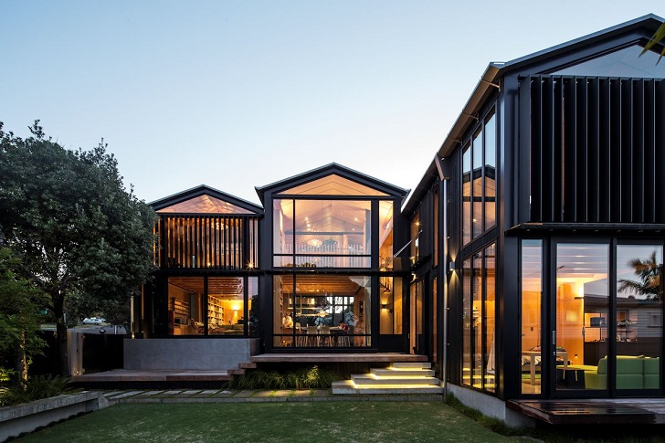 metal building homes glass walls metal frames contemporary house