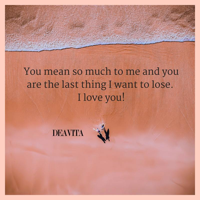 You mean so much to me cards and romantic quotes about love