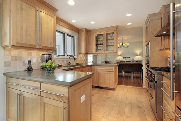 Affordable countertop ideas kitchen remodel ideas wood cabinets gray countertop