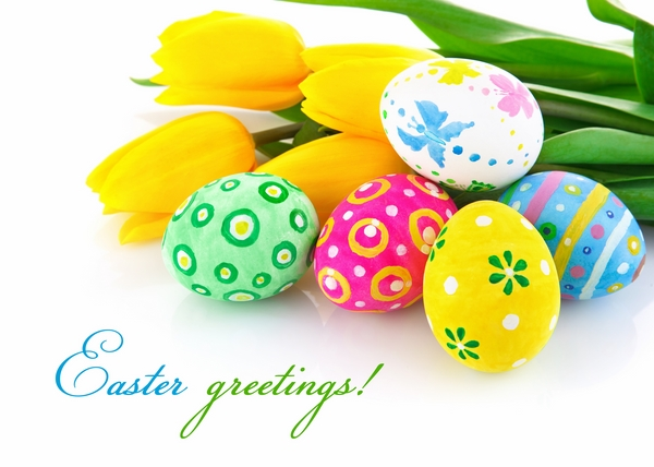 pictures ecards happy greetings tulips eggs
