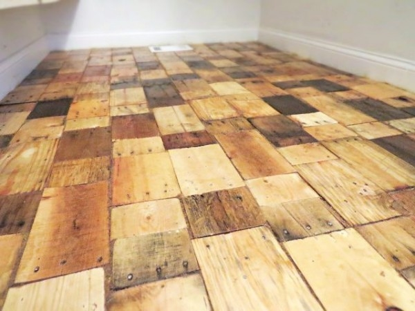 upcycling wood cheap flooring options