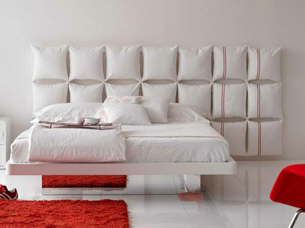 ideas white pillows white furniture red accents