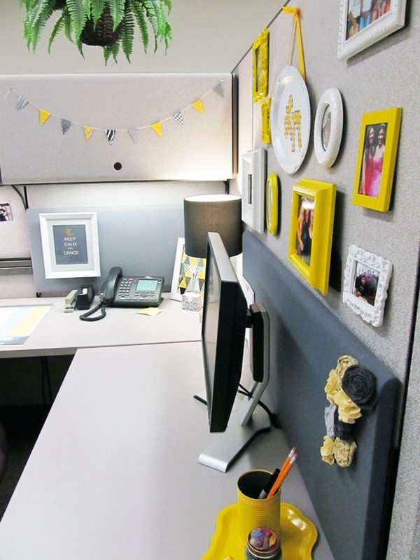 cool cubicle decor picture frames photos small banner