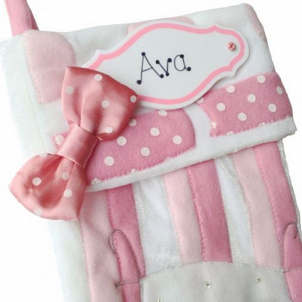 personalised-christmas-stockings-pink-white-Christmas-stocking-baby-girl